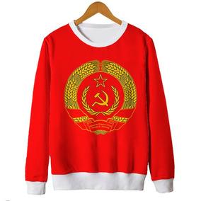 Blusas Femininas Moletom Brasão União Soviética Cccp Mt eca3819a4a6b8