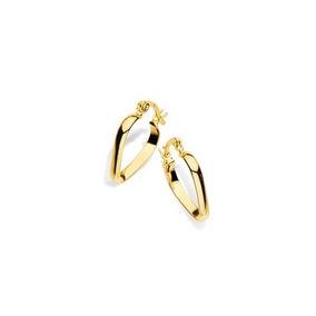 b0b2a803696f9 Brinco Rommanel Folheado Ouro Pequena Argola Coração Bonito. R  73