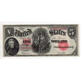 5 Dolares 1907 Letra B Numero