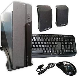 Gabinete Kit Pc Fuente 600w Slim - Mouse Teclado Y Parlantes