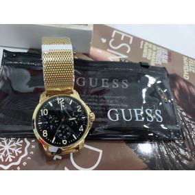 Reloj Para Caballero Marca Guess Dorado Original W1040g3