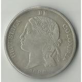 Moneda República De Colombia 5 Décimos 1888 Plata Escasa