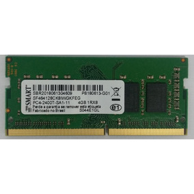 16256b86f0f9b Memória Ram Ddr4 4gb - Pc4 2400t-sa1-11 1rx8 -