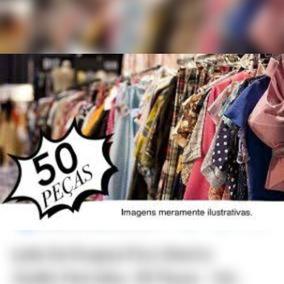 Lote De 50 Peças Roupa Seminova Feminina