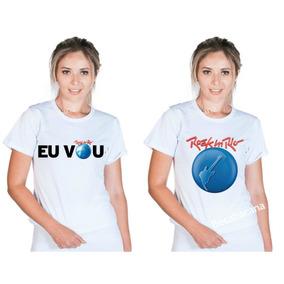 Camiseta Feminina Blusa Banda De Rock Rock In Rio 2019