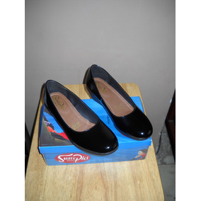 Zapatos Suave Pies Charol Remate A Solo 449