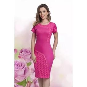 Vestido Moda Evangelica Elegante Cod#pinkred+