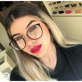 00345da09baf4 Óculos Redondo Sem Grau Colorido Florido Feminino Nerd Lindo
