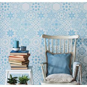 Stencil Mosaicos H Plantilla Decorativa Reusable Para Pintar