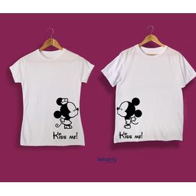 2476b82b4d1e Playera Para Parejas Micky Mouse Personalizado Sublimación