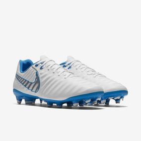 99f88e2b0e Chuteira Nike Maestri Azul E Braco Em Carbono - Chuteiras no Mercado ...