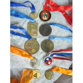 Lote Com 10 Medalhas Esportivas Antigas -lote Unico
