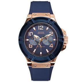 4143f9ae04a Relógio Guess Feminino 92506lpgsru4 W0571l1 Azul rose. R  929