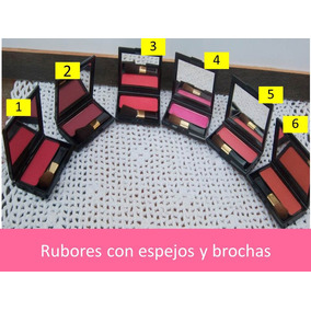 Trio De Sombra Y Rubor Con Espejo Y Brocha
