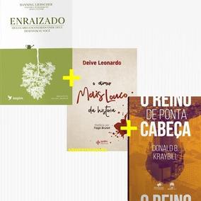 Kit 3 Livros - Enraizado + O Reino De Ponta Cabeça E Mais