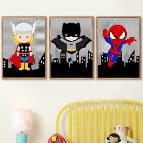 Cuadros Infantiles De Superheroes Personalizados - Decoración para ... 6aa241a7b55