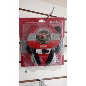 Headset Com Microfone E Regulagem De Volume