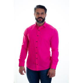 Camisa Social Masculina Slim Camiseta Promoção