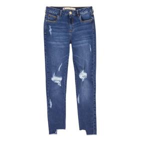 805705447 Calça Jeans Skinny Fem Com Efeito Destroyed Hering - 324h953