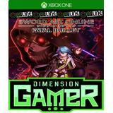Sword Art Online: Fatal Bullet - Xbox One No Codigo Off-line