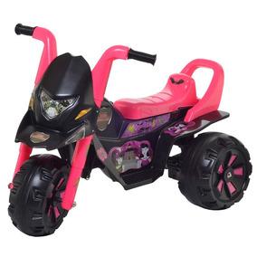Mini Moto Elétrica Infantil Grande - Marcha Até 35 Kg - Rosa