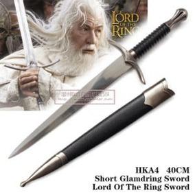 Espada Pequena Decorativa Senhor Dos Anéis Gandalf Glamdring