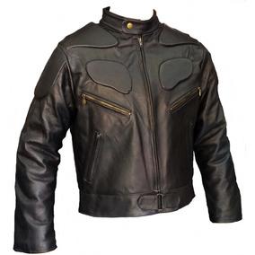0d9969d8fdd Chamarra Piel Motociclista Hombre Con Protecciones en Mercado Libre ...