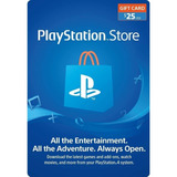 Tarjeta Psn 25 Usd Playstation Gift Card Ps4 Ps3 Disponible