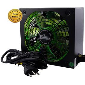 Fonte Atx 500w P/ Jogos Pc Gamer 500 Watts Reais Com Led