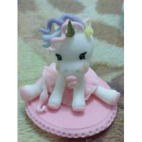 Unicornios En Porcelana Fría, Souvenirs Adorno Para Torta