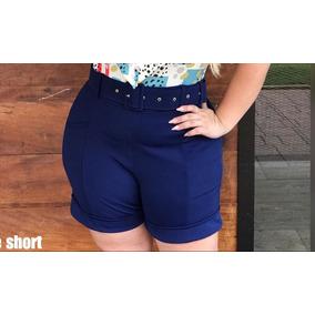 Short Com Cinto Plus Size