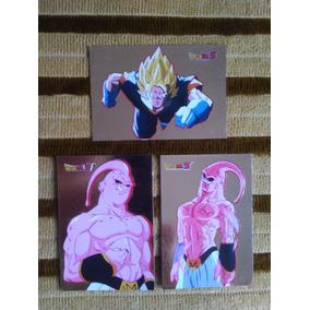 Set Lote Com 3 Cartas Cards Originais Dragon Ball Z Vegetto