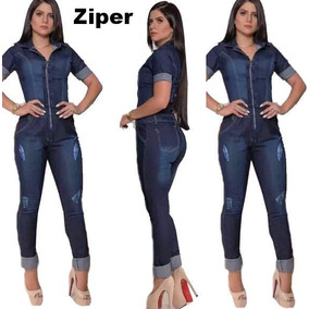 Macacao Longo Feminino Jeans Brs 2019 Miles