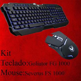 Kit Teclado E Mouse Gamer Falcon
