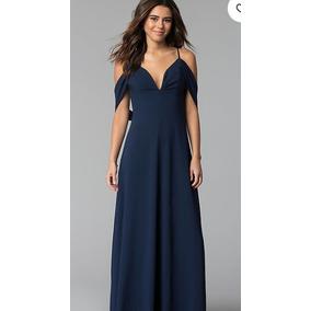 Vestidos largos de color azul marino