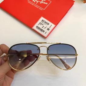 f903069101f34 Óculos Ray Ban Lente Degradê Marrom Armação Cromada - Óculos no ...