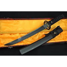 Tanto Katana Faca Afiada Aço Negro Espada Japonesa Aisi1060