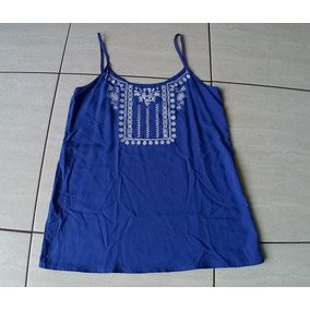 9775b80e23 Blusa De Alça Tipo Batinha Aquamar - Camisetas e Blusas no Mercado ...