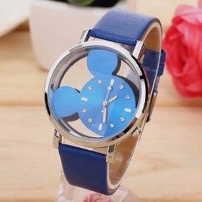 Relógio Feminino Mickey Mouse Transparente - Quartzo