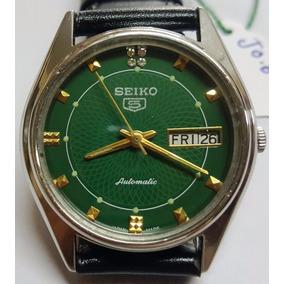 25c3bdcc4b5 Relógio Seiko 5 Japan 23 Jewels - Mostrador Verde Musgo Ok!