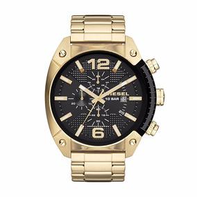 Diesel - Reloj Dz4342 Overflow Gold Toned Steel Para Hombre