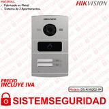 Placa Videoportero Ip Para 2 Dpto Hikvision Ds-kv8202-im