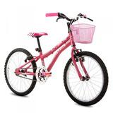 Bicicleta Nina Aro 20 Sem Marcha Rosa Fosca - Houston