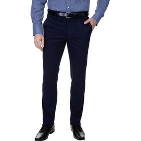 Calça De Sarja Masculina Strecht Azul Marinho