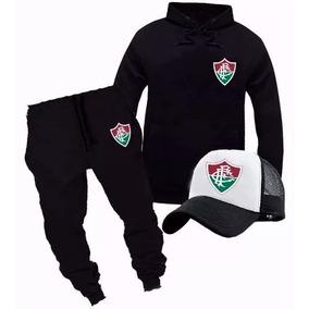 d03e9aa1f2 Blusa Moletom+calça+boné Tracker Time-do Fluminense