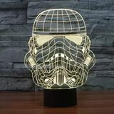 Lampara Star Wars 3d Trooper