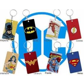 Chaveiro Dc Comics Super Heróis Retrô 4 Chaveiros