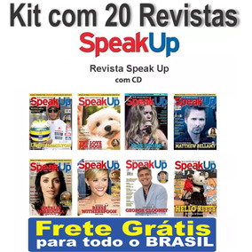 Kit Com 20 Revistas Speak Up Com Cd Ingles - Frete Gratis