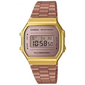 689e97b18f8 Relogio Casio Dourado Feminino Rosa - Relógios no Mercado Livre Brasil