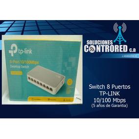 Switch 8 Puertos Tp-link 10/100 Mbps 5 Años De Garantia